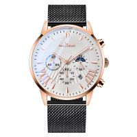New chronograph OEM stainless steel custom men luxury brand wrist watch