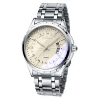 Wholesale Cheap Custom Logo men's quartz wrist Watches with steel band