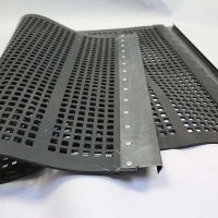Tensioned polyurethane fine screen mesh