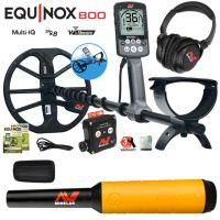 100% Quality UNBEATABLE Min-elab Equinox 800 Multi-IQ Underwater Waterproof Metal Detector & Pro