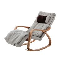 Electric Leisure Massage Beach Chair With Wood Armrest