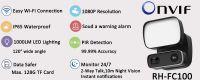 REHENT Smart 1000LM LED Light PIR Detection Wifi HD Waterproof Outdoor