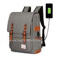Vintage Laptop Backpack for Women Men,School College Backpack with USB Charging