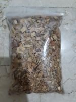 Woodchips by Green Plant