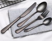 High Quality Restaurant and Hotel Titanium Coating Cutlery Set