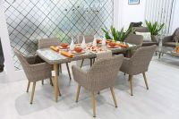 POLY RATTAN DINING SET NEW MODEL 2019