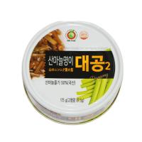 Canned Sanmaneul Myeong-yi Stem (Mountain Garlic Leaf, alpine leek, victory onion Stem) 175g - Dokdo Trade