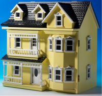 1/12 scale dollhouse kit in multicolor DIY decoration
