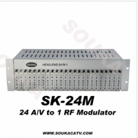 24 In 1 Analog Fixed Channel Modulator Headend