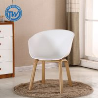 DC-6506F Topwell modern living room wood legs leisure dining chair