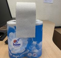 RECYCLED GRAY WASTE-PAPER TOILET PAPER
