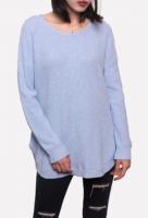 Oversize Round Neck Women Pullover Sweater