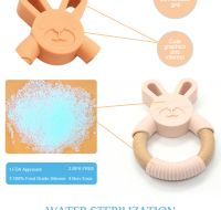 Wholesale Soft Baby Toy Teething Silicone Teether