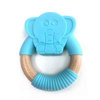 Animal Shape Bpa Free Non-toxic Silicone Dinosaur Teether Chew Toy