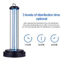 110v-220v36w ultraviolet disinfection light UVC sterilization lamp timing remote ozone sterilization lamp