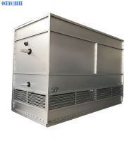 Stainless steel coil evaporative condenser