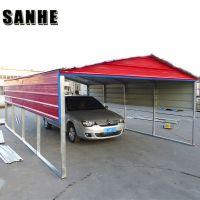 Easy asemble backyard DIY steel shed car shelter kit large garage canopy metal portable car port