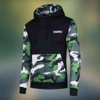 Multi color panel custom logo Fleece hoodie