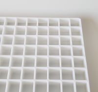 Plastic Eggcrate Grille cell white panel�Plastic Egg Crate Grille core