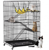 Best seller cat cage with wheels and hammocks
