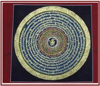 Nepal Handworked Thangka Thang-ga Tangkar Six words Buddhist Six words DaMingzou Om/ Mani Padme Hung Tangchen Hallway Decoration Drawing pictures and paintings