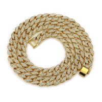 76cm 30inch Europe And USA Man Necklace Hip-Hop Necklace Jewelry Ornaments Diamante The Whole Drill Cuban Gold Chains