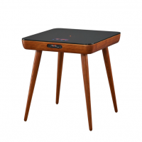 Square Modern Wood Smart Coffee Table with Speaker Charger