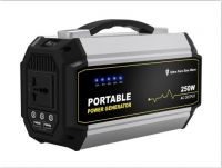 220V Portable solar power generator with solar input for solar energy storage mini battery backup for camping and hiking