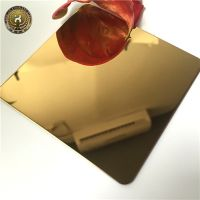 The antique design mirror brushed titanium gold stainless steel sheet