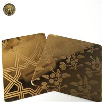 Stainless Steel Rose Gold Hairline mirror polished sheet