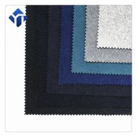 Factory multicolor yarn dyed  melton wool fabric for coat