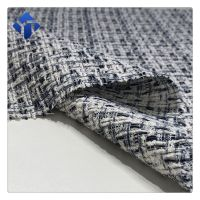 New mills China  cotton polyester tweed  fabric for women clothing