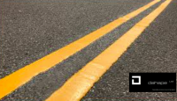 YELLOW HOT MELT PAINT ROAD MARKINGS