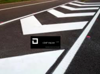 WHITE HOT-MELT ROAD