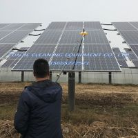 solar photovoltaic module panel cleaning brush