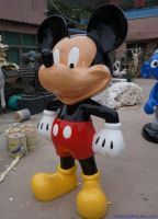 Disney cartoon character Mickey Mouse Donald Duck FRP sculpture