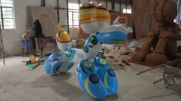 Commercial Street Square Decorative Projects Balloon Dog FRP Sculpture