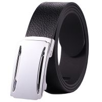 Black and Brown Automatic Buckle Leather Belt