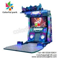 Colorful Park Arcade Dancing Machine Coin Operated Music Games for Shopping Mall