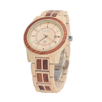 Custom Stainless Steel Gift Wooden Watch