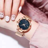 Hot Sell Ladies Watch Star Sky Dial Women Bracelet Watches Japan Quartz Watch Wholesale  Fashion Watch