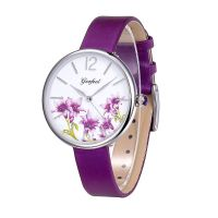 New Design Flower Face Japan Quartz Movt Fashion Girls Watch