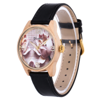 Trendy Hot Wooden Watch With Genuine Leather Strap Wood Watch For Lady