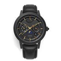 Minimalist Watches Men Wrist Quartz Luxury Japan Movt Moonphase Watch