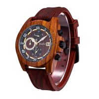 Custom Brand OEM Luxury Sport Handmade Chronograph Wooden Watch