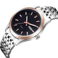 Popular Luxury Gift Waterproof Miyota Japan Movement Stainless Steel Leather Watch