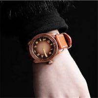 OEM luxury wrist watch men vintage tin bronze carved watches Japanese Movt watch manufacture