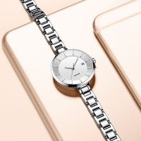 Factory Supply Thin Women Stainless Steel Wrist Watch with Japan Movement