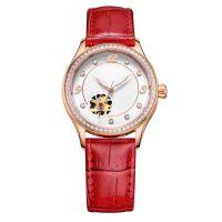 Fashion Japan Movement Genuine Leather Watch Strap Mechanical Elegent Watch