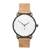 Oem Watch Manufacturer Relojes Hombre Genuine Leather Private Label Casual Watch